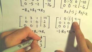 ❖ Using Gauss-Jordan to Solve a System of Three Linear Equat...