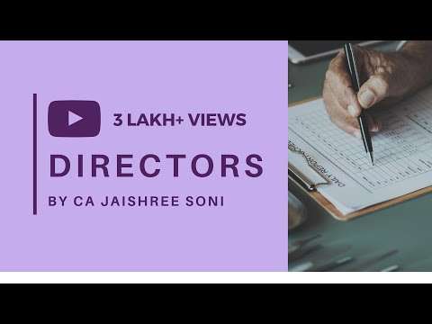 Directors - Company Law by CA Jaishree Soni