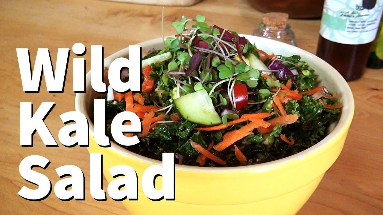 Wild Kale Salad for Fiber and Antioxidants