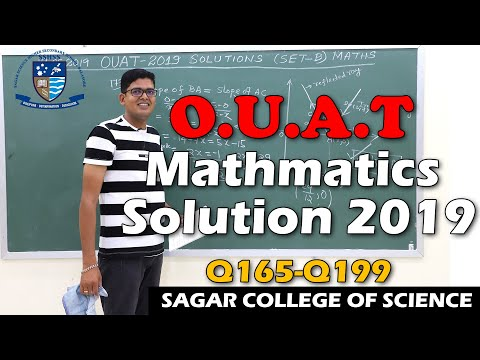 Discussions On Ouat 2019 Mathematics Q165 To Q200