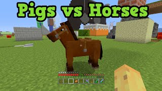 Minecraft Pigs vs Horses - Which Is Better?