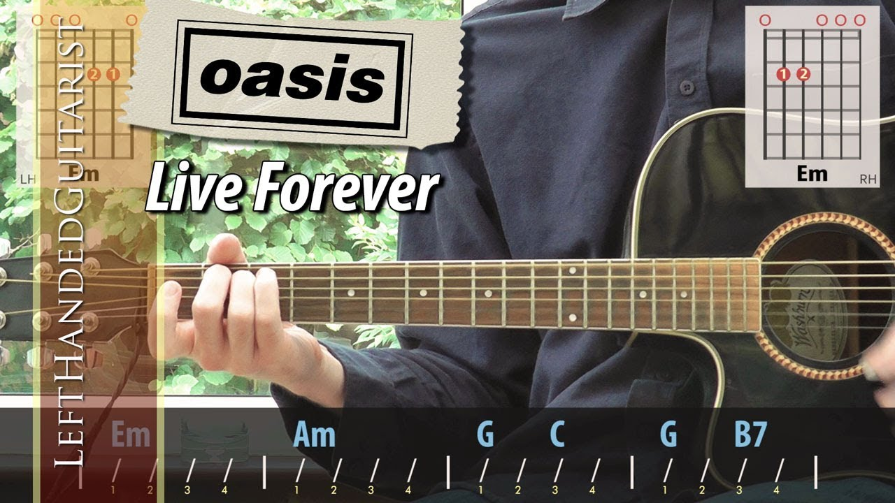 Oasis – Live Forever   acoustic guitar lesson