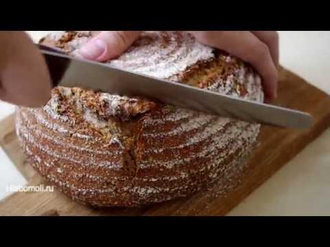 Пшеничный цельнозерновой хлеб без замеса на закваске /NO KNEAD wheat wholegrain sourdough bread