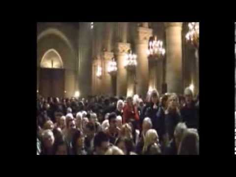 Midnight Mass at Notre-Dame Cathedral of Paris