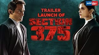 Akshaye Khanna and Richa Chaddha At The Trailer Launch Of Section 375