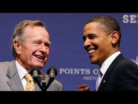 Ο πολιτικός κόσμος αποχαιρετά τον Τζορτζ Μπους