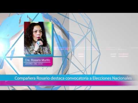Compañera Rosario destaca convocatoria a Elecciones Nacionales