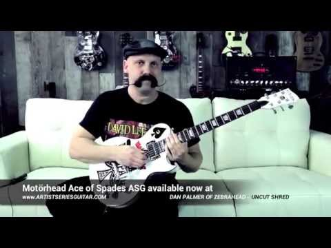 Dan Palmer of Zebrahead & Death By Stereo shredding the new Motörhead Ace of Spades ASG