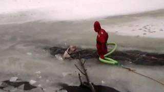 Almost Cry Watching This: Dog Got Rescued From Icy River