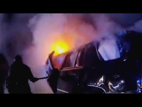 Florida Cops Use Ax to Free Man From Burning Car