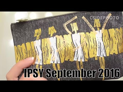 September 2016 IPSY Glambag Unboxing & August ReReview ! One Year of Ipsy #5