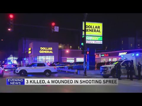 Three killed, four critically wounded in Chicago shooting spree before gunman shot dead in Evanston