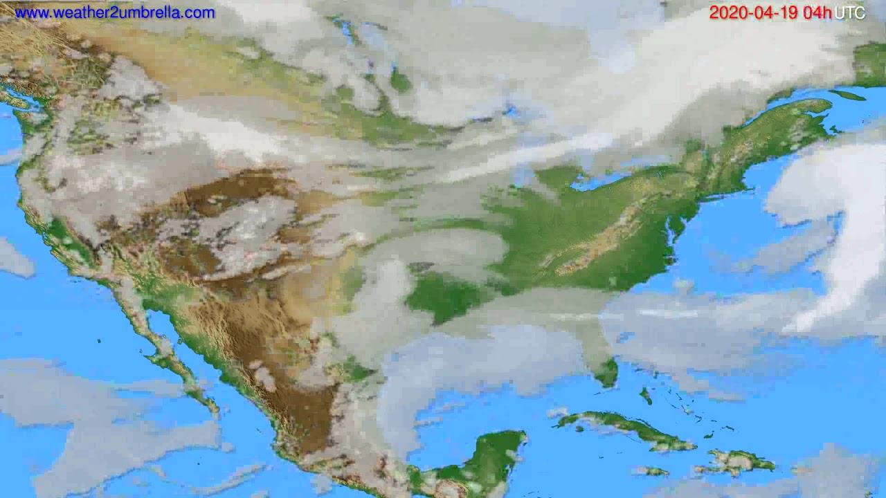 Cloud forecast USA & Canada // modelrun: 12h UTC 2020-04-18
