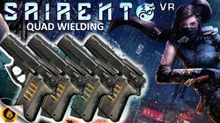 THERE WAS A FIREFIGHT!!! Tipping the hat to Boondock Saints, RageMaster rocks multiple sets of pistols in Virtual Reality against the enemy ninja clan for an intense, epic-action extreme gun battle!!!! Classic VR FPS gameplay featuring skills such as... wall-running, gun-kata, slow-motion, floor-sliding, dual-wielding.... RageMaster plays with 10% health on MASTER DIFFICULTY. Youtuber got skills? You bet...Soundtrack by the awesome Maki Symphony used under Creative Commons attribution.