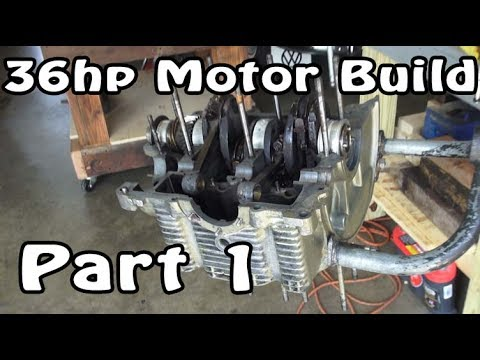 Classic VW BuGs 36hp Beetle Air-Cooled Motor Engine Rebuild Part 1