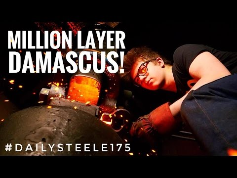 Video ONE MILLION LAYER DAMASCUS STEEL!!!! Will it work!?!? download in MP3, 3GP, MP4, WEBM, AVI, FLV January 2017