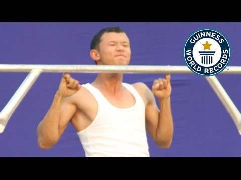 Indian Man Sets World Record by Doing 16 PullUps with His Pinkie