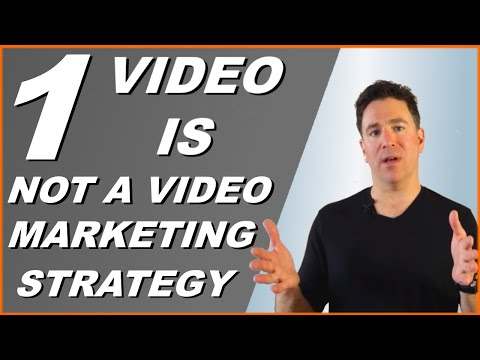 Video marketing strategy - One video is not a business video content marketing strategy
