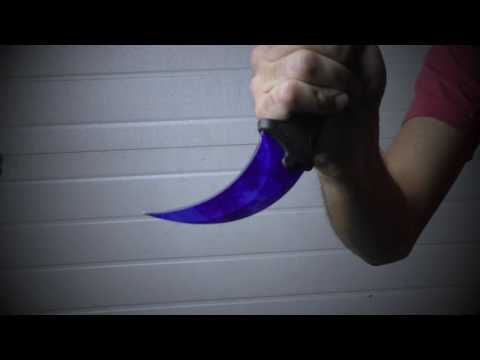 CSGO IRL Sapphire Doppler Karambit Knife by Kolour Co.