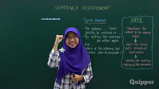 Download Video Quipper Video - Sentence Restatement - Persiapan SBMPTN Bahasa Inggris 2017 MP3 3GP MP4