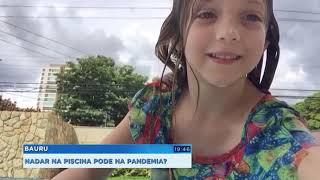 Especialista dá dicas para crianças que não abrem mão da piscina na pandemia