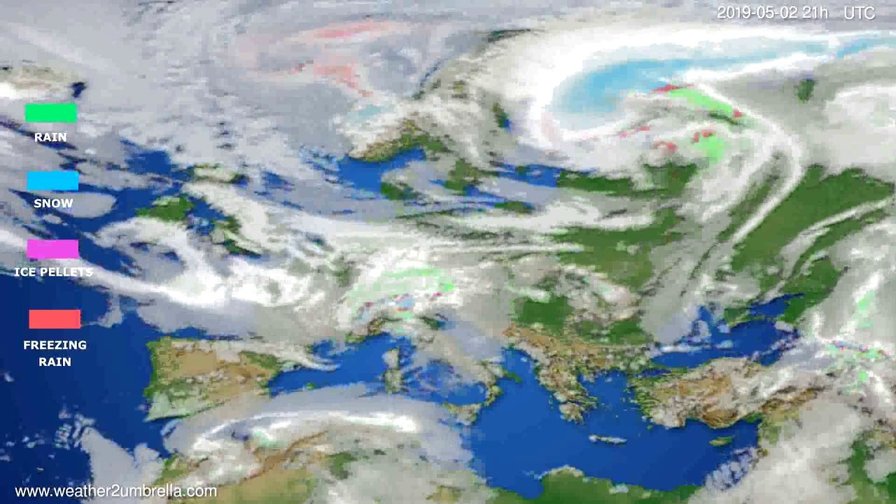 Precipitation forecast Europe // modelrun: 00h UTC 2019-05-01