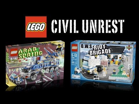 slatester - After months of demonstrations by the Occupy Wall Street movement, Slate V imagines a special edition Lego set just in time for the holidays.