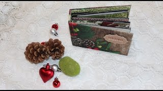 This is a tutorial on how to create a small mini album. The album is a pop up album. The pop-up effects in this album, will be shown a following tutorial. The album is made with Kaisercraft's Silent night collection.