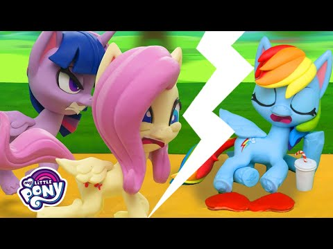 My Little Pony Stop Motion 🍿The Great Race Between Ponies   MLP Stop Motion