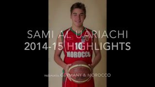 """This is the 2014-15 Highlights video of Sami Al Uariachi, a point guard currently attending The KAUST School in Thuwal, Saudi Arabia. During his sophomore year, he played for his school's U16 and U19 teams, a club in neighboring city Jeddah (Jeddah United), as well as the U16 national team of Morocco. Sami was also a guest player for CAI Zaragoza's U16 team that participated in the Spanish easter invitational.Sami holds dual nationality (German and Morocco) and played for Morocco in the recent African Championships.FIBA Africa Statistics:http://www.fiba.com/pages/eng/fa/player/p/pid/120753/sid/11792/tid/331/tid2//_/2015_FIBA_Africa_U16_Men/index.htmlSami can be reached at: """"samialuariachi@gmail.com"""""""