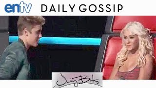Justin Bieber Dissed By Christina Aguilera: Xtina Gives Bieber Evil Eye On 'The Voice': ENTV
