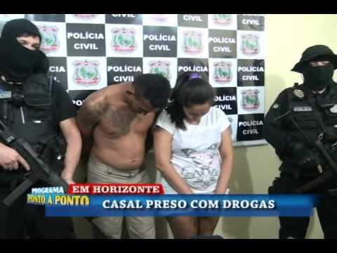 Em Horizonte-CE/ Casal é preso acusado de tráfico de drogas.