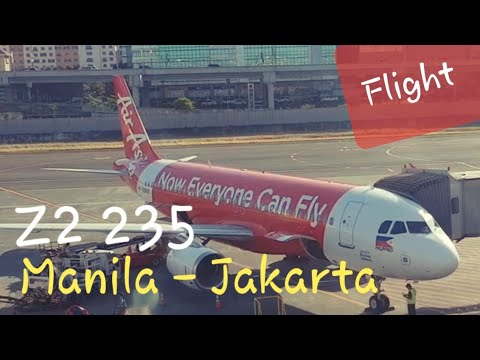 AirAsia Philippines Z2 235 Manila - Jakarta | Amazing Low Cost Airlines Flight Experience
