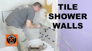 How to Tile a Shower Wall...the Mixing Valve Wall -- by Home Repair Tutor