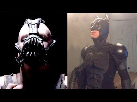Bane Mask and Batman Costumes