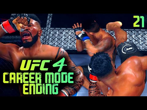 UFC 4 Career Mode Ending: Illegal Soccer Kick In My Last Fight! EA Sports UFC 4 Career Mode Gameplay
