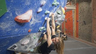 Climbing On Granit Holds In A Gym - Thor - Peter - Shenanigans by Eric Karlsson Bouldering