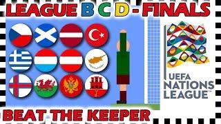 Marble Race - UEFA Nations League 2018/19 Prediction - League B C D Finals, 3rd & Semi Finals