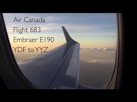 EARLY MORNING FLIGHT!! Air Canada 683 Embraer E190 YDF to YYZ