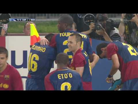 FCBarcelona 2 0 Manchester Utd Gol Messi Canal+ HD Final Champions League