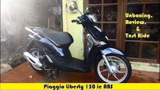 7. Unboxing, Review, and Test Ride Piaggio Liberty 150 ie ABS 2017 #MotoVlog 16