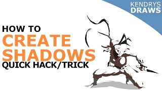 How to create shadows- quick trick- Clip studio paint