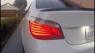 in this video i answer questions on what it takes to do the LCI tail light conversion on the e60 5 series BMW. their are 3 options when it comes to it. OEM style, harness and coding, or lci plug and play adapter. visit my site soon i will post the codes needed to change to use the adapter only (cheaper method). thanks for watching. visit my site roskinc.com