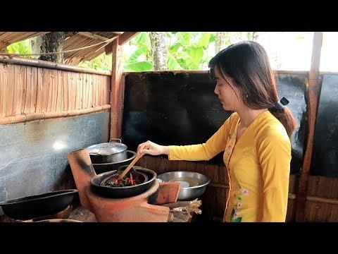 Em gái đến nhà chơi chỉ có món Thịt Kho Queo với Rau Muống Xào  | Thôn Nữ Miền Tây - Thời lượng: 18:50.