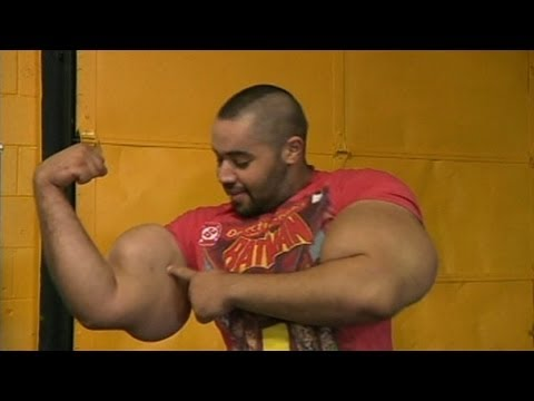 Real-Life Popeye with Biggest Arms in the World Doesn't Use Steroids