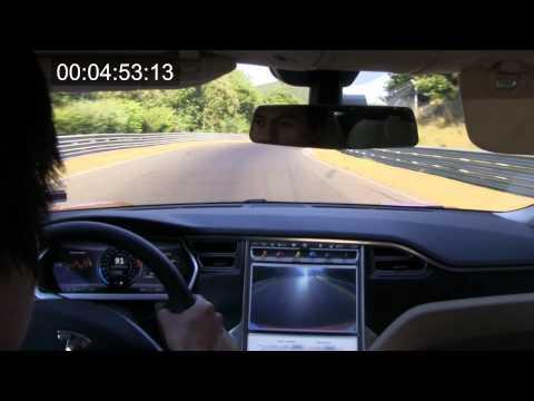 Tesla Model S P85 on Nürburgring/Nordschleife