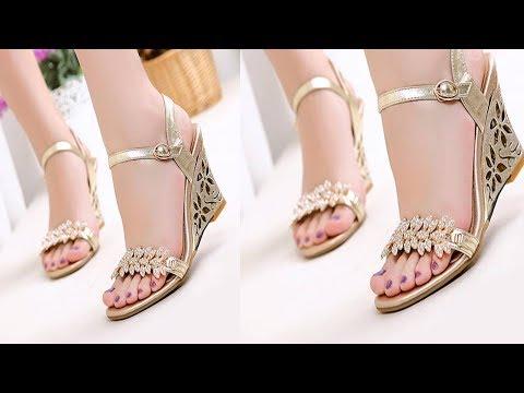 Latest Modern Fashionable Women Footwear  High heels shoe Designs