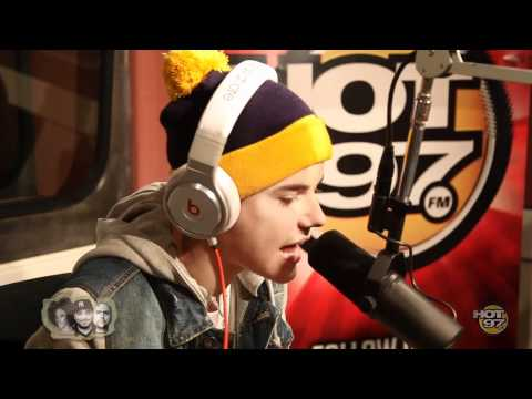 Justin Bieber Exclusive Rap at HOT 97 -