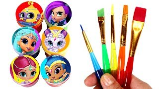 Shimmer and Shine Drawing & Painting with Surprise Toys Princess Samira Leah Tala Nahal Nazboo Zeta