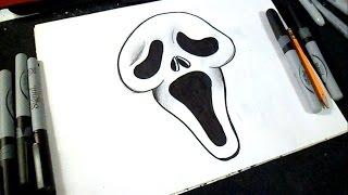 Cómo dibujar Rostro de Scream